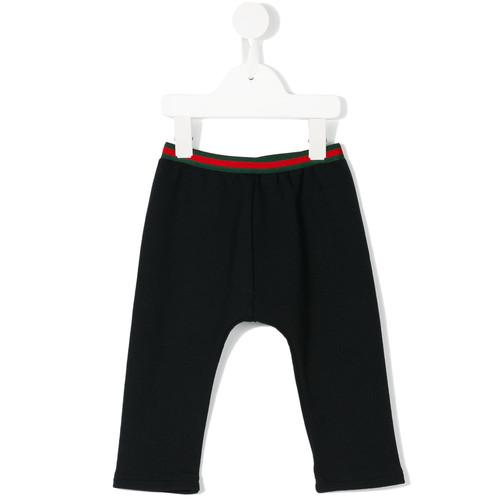 striped waist track pants