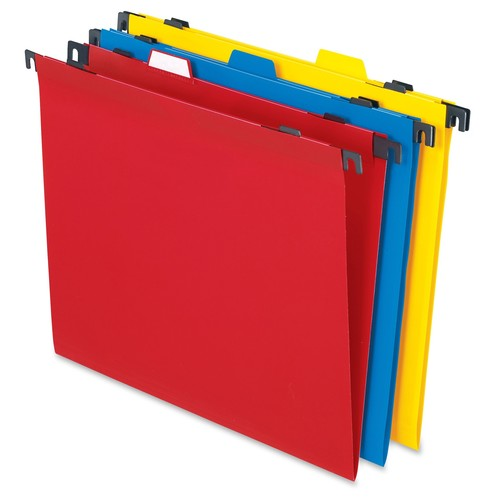Pendaflex 99917 Two-in-One Colored Poly Folders with Built-In Tabs, Letter, Assorted (Pack of 10)