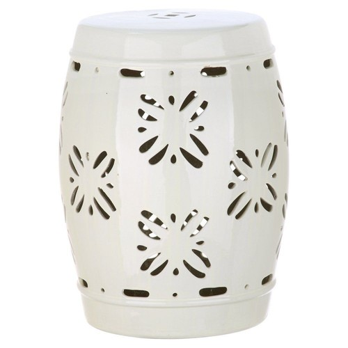 Sally Garden Stool, Cream