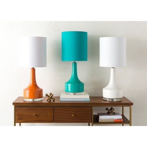 Modern Emily Table Lamp with Glazed Ceramic Base