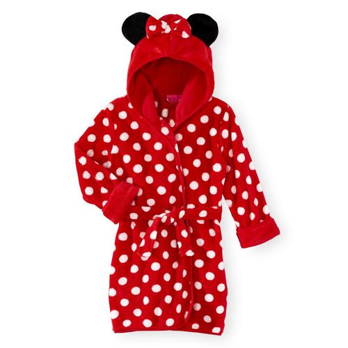 Disney Baby Minnie Mouse Polka Dot Hooded Robe