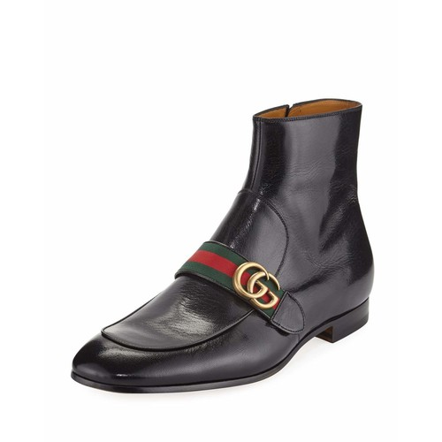 GUCCI Donnie Leather Boot With Double G