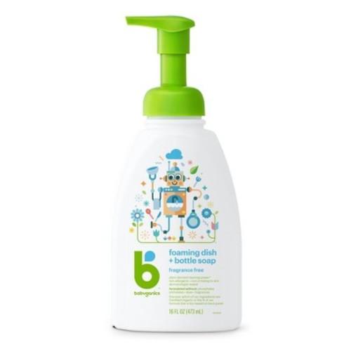Babyganics Foaming Dish & Bottle Soap, Fragrance Free- 16oz