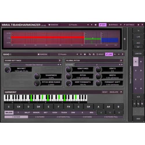 MMultiBandHarmonizer - Pitch Shifting/Multi-Voice Harmonizing Plug-In (Download)