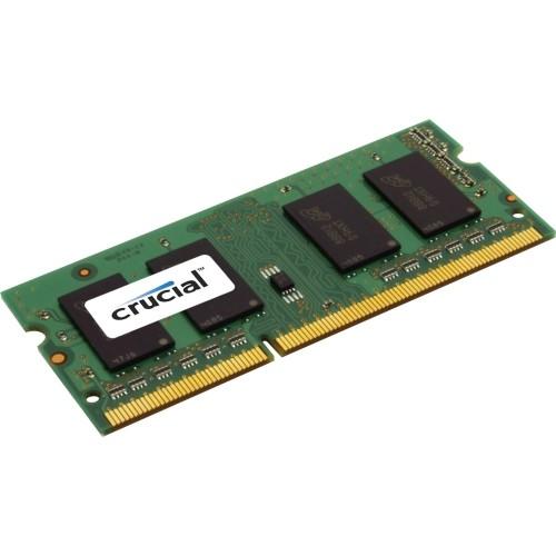 Crucial 2GB, 204-pin SoDIMM, DDR3 PC3-12800 Memory Module - 2 GB - DDR3 SDRAM - 1600 MHz DDR3-1600/PC3-12800 - 1.35 V - Non-ECC - Unbuffered - 204-pin - SoDIMM