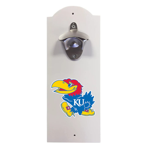 Kansas Jayhawks Wall-Mounted Bottle Opener