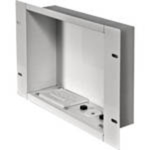 In-Wall Cable Management and Storage Box with Surge-Protected Duplex Receptacle