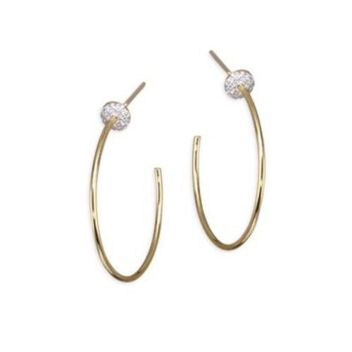 Affair Diamond Infinity Micro Disc Hoop Earrings/1.25