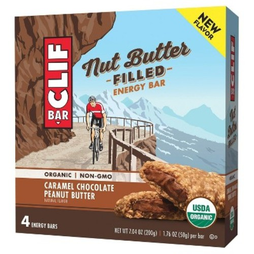 Clif Bar Caramel Chocolate Peanut Butter Energy Bar - 74oz - 4ct