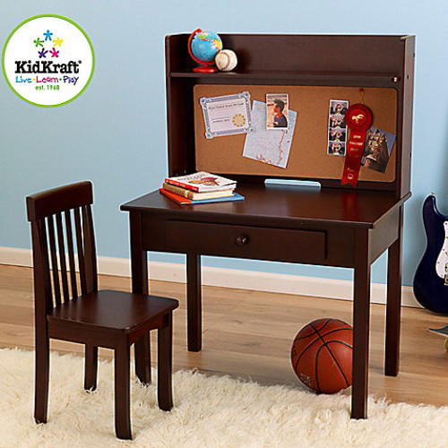 KidKraft Pin Board Desk & Chair in Espresso