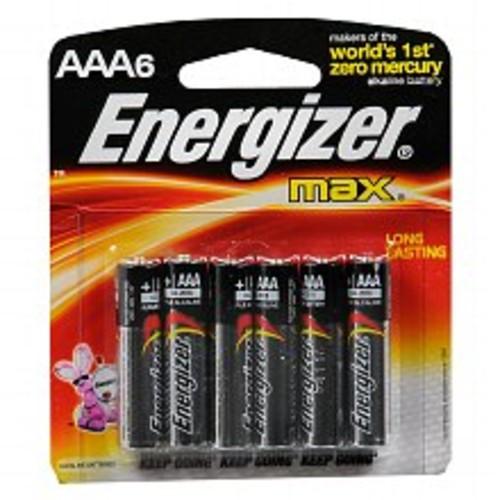 Energizer Max Alkaline Batteries AAA