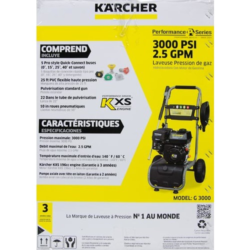 Karcher G 3000 Performance Series 3000 PSI Gas Pressure Washer