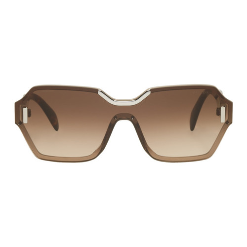 PRADA Pink & Tortoiseshell Square Runway Sunglasses