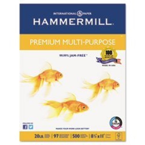 Hammermill Paper, Premium Multi-Purpose Poly Wrap, 20lb, 8.5 x 11, Letter, 97 Bright, 500 Sheets / 1 Ream (105910) Made In The USA