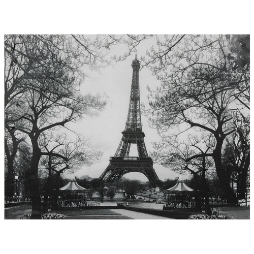 Oriental Home Eiffel Tower Park Canvas Wall Art