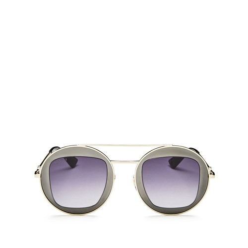 GUCCI Oversized Round Sunglasses, 47Mm