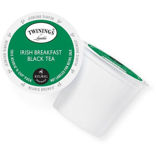 Twining's of London Irish Breakfast Tea K-Cup Portion Pack [option : 24 Count]