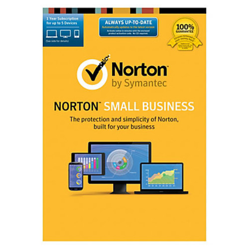 Norton Small Business, For 5 Devices, PC/Mac/Android/iOS, Product Key Card