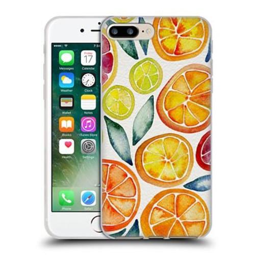 Official Cat Coquillette Fruits & Veggies Citrus Slices Soft Gel Case For Apple Iphone 7 Plus