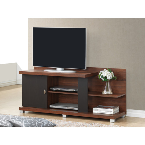 Baxton Studio Bella Two-tone TV stand in Espresso and Sonoma Oak Model #TV-011-Oak