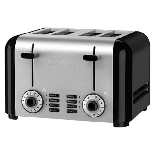 Cuisinart 4 Slice Hybrid Toaster - Brushed Stainless Steel CPT-340