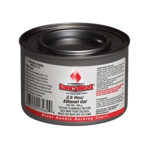 Fancy Heat 2 1/2 Hrs 7 oz. Burner Ethanol Gel Chafing Fuel Can