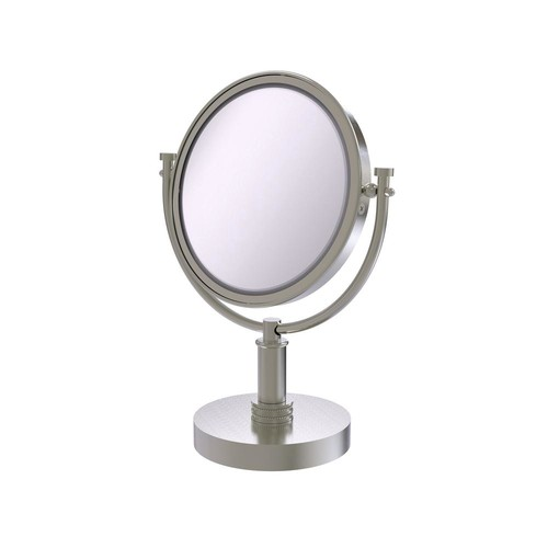 Allied Brass 8 in. x 15 in. Vanity Top Make-Up Mirror 3x Magnification in Satin Nickel