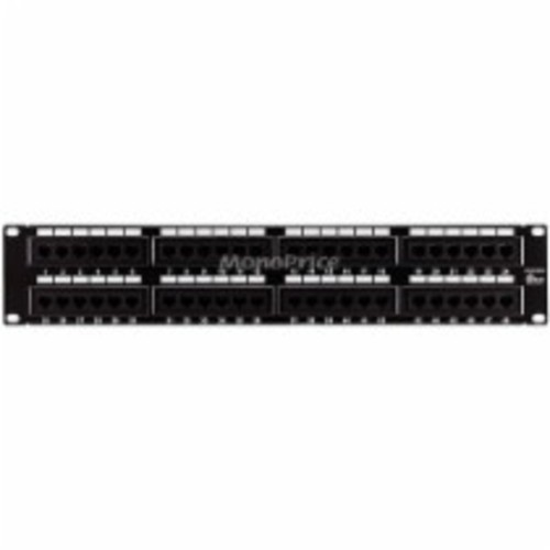 Monoprice - Cat6 Patch Panel 110 Type 48 Port (568A/B Compatible) - Black