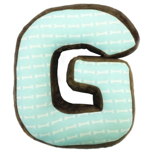 One Grace Place Puppy Pal Boy Letter Pillow