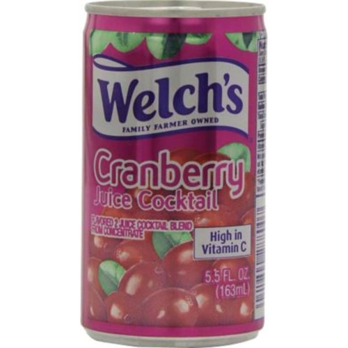 Welch's Cranberry Cocktail 5.5 oz. Cans, 48/Case
