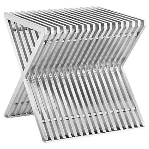 Modway Steel Side Table, Silver, Each (889654039716)