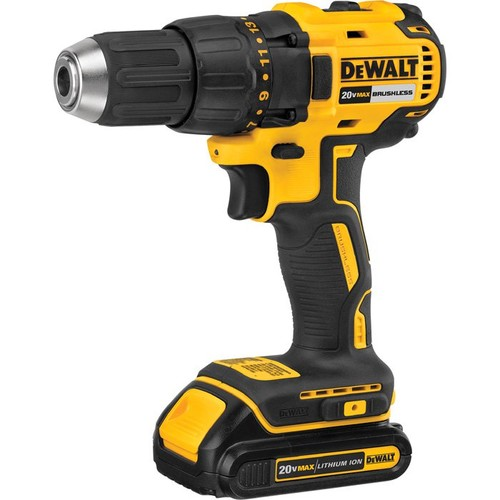 DEWALT MAX 20 Volt Compact Brushless Drill-Driver Kit  20 Volt, 1/2in. Chuck, Two 20V MAX Compact Li-Ion Batteries,