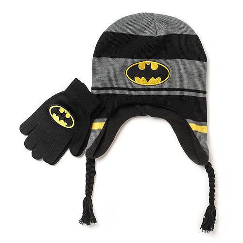 DC Comics Hat and Glove Striped Set - Batman