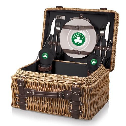 Picnic Time Boston Celtics Champion Picnic Basket with Service for 2
