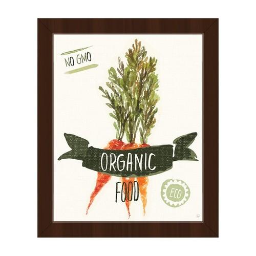 'Organic Food - Carrots' Framed Canvas Wall Art