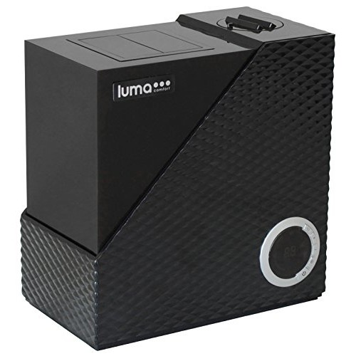 Luma Comfort HCW10B Cool & Warm Mist Humidifier, 2 Gallon Output and Automatic Humidity Control [Black]