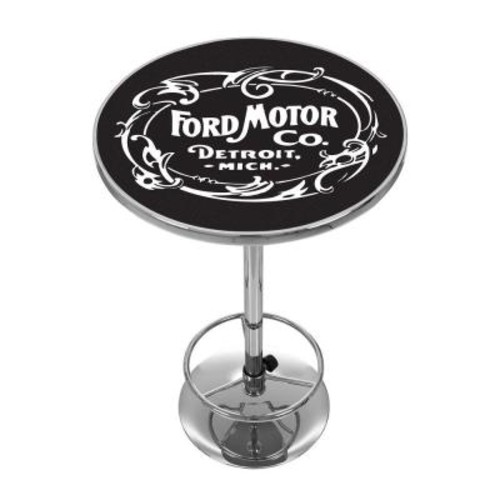 Trademark Vintage 1903 Motor Company Chrome Pub/Bar Table