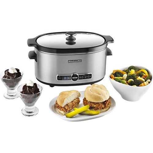 KitchenAid KSC6223SS 6-Qt. Slow Cooker with Standard Lid - Stainless Steel [Standard Lid]