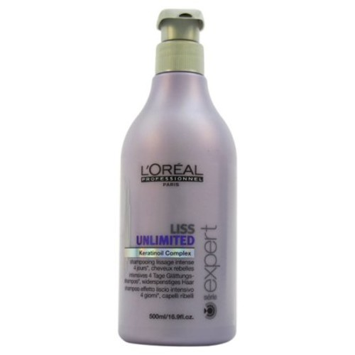 Liss Unlimited Keratinoil Complex Shampoo by L'Oreal Professional for Unisex, 16.9 oz