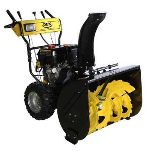 DEK 30 in. Commercial 302cc Electric Start 2-Stage Gas Snow Blower w/Headlights, Bonus Drift Cutters and Clean-Out Tool
