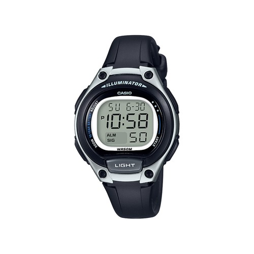 Ladies Digital Black and White Watch