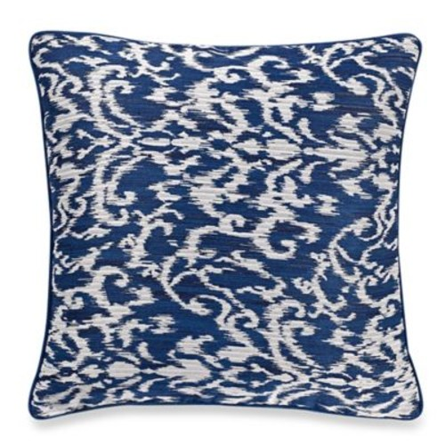 Make-Your-Own-Pillow Pietra Square Throw Pillow Cover in Navy