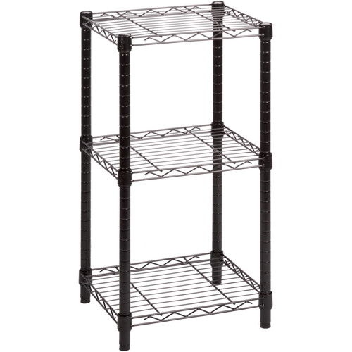 Honey-Can-Do SHF-02218 3-Tier Steel Wire Shelving Tower, Black, 14 by 15 by 30-Inch