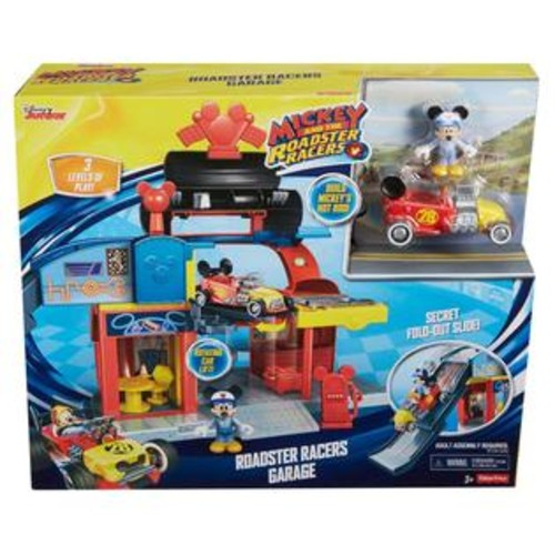 Fisher -Price Disney Junior Mickey Mouse Clubhouse Roadster Racers Garage Set