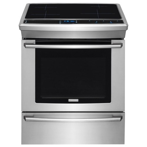 Electrolux - 4.6 Cu. Ft. Self-Cleaning Slide-In Electric Induction Convection Range - Stainless steel