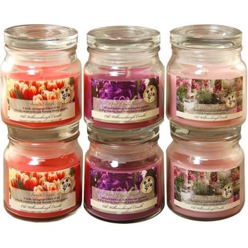 LumaBase Floral Collection 3-oz. Jar Candle 6-piece Set