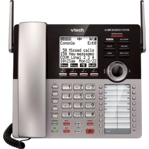 VTech CM18445 Main Console for VTech 4-Line Small Business Office Phone System, Silver