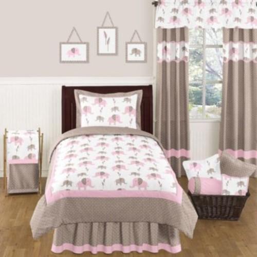 Sweet Jojo Designs Mod Elephant Standard Pillow Sham in Pink/Taupe