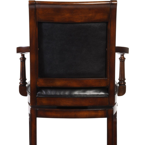 Douglas Wood Bar Stool, Distressed Cherry Finish with Gold Highlights