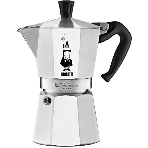 Bialetti 6-Cup Stovetop Espresso Maker [Silver, 6-Cup]